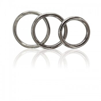 MANBOUND METAL COCK RING 3-PACK