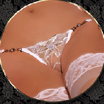 Chain and Rhinestone G-String Panty