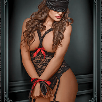 SHADES OF LOVE Bondage Set Teddy Luv Lace – Black