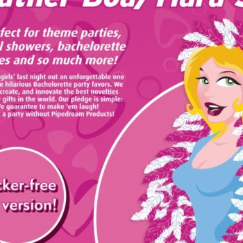 Bachelorette-Feather Party Boa/Tiara Set