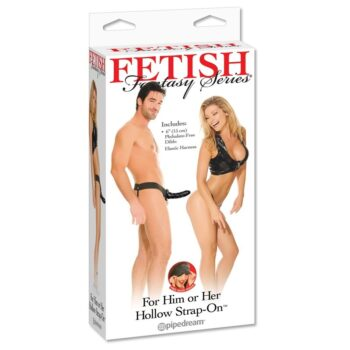 Fetish Fantasy For Him or Her Hollow Strap-On / Black