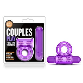 Couples Play – Play With Me Vibrating Cockring – Purple