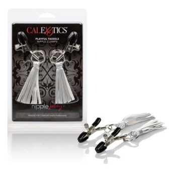 Nipple Play Playful Tassels Nipple Clamps – Silver