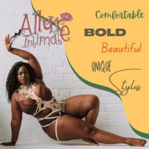 sexy black woman in unique lingerie