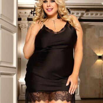 Black Sexy Fashion Silk Satin Lace High Quality Women Pajama